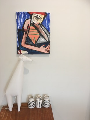 (CreativeWork) Sunday morning contemplation. Composition four.  by Kate Rogers. Mixed Media. Shop online at Bluethumb.
