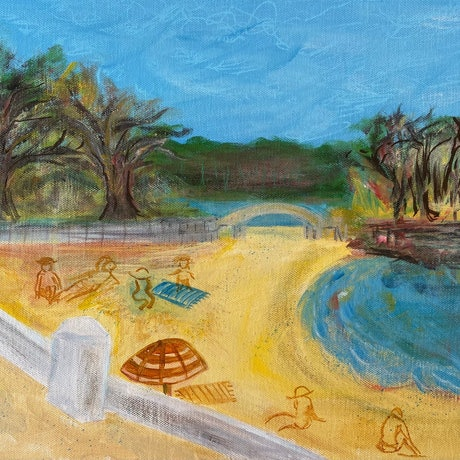 (CreativeWork) Day Out at Balmoral Beach by Cecilia Bell. Acrylic Paint. Shop online at Bluethumb.