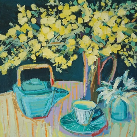 (CreativeWork) TUESDAY by Karen McPhee. Acrylic Paint. Shop online at Bluethumb.