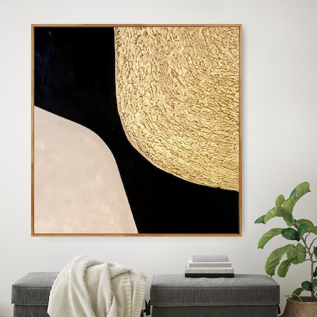 (CreativeWork) Zoey _  Framed abstract textured minimalist art by Josephine Ann Pitsiava. Mixed Media. Shop online at Bluethumb.