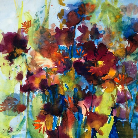 (CreativeWork) Complexity by Jill Bryant. Watercolour. Shop online at Bluethumb.