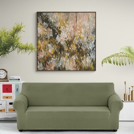 (CreativeWork) Native Grasses  - Limited Edition Print Framed - Square 135cm x 135cm  Ed. 2 of 100 by Belinda Nadwie. Print. Shop online at Bluethumb.