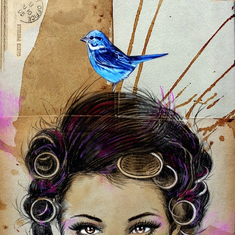(CreativeWork) RED STAMP by loui jover. Mixed Media. Shop online at Bluethumb.