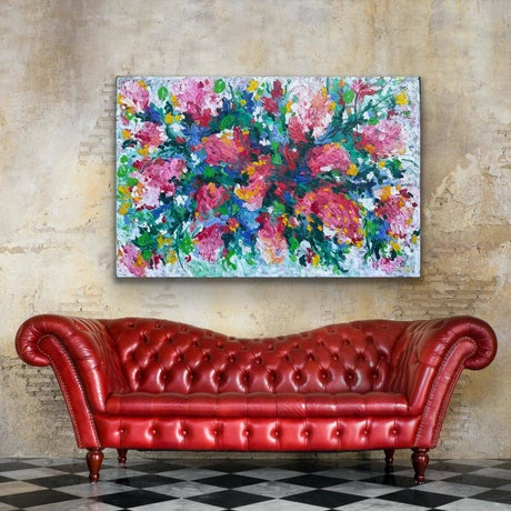 (CreativeWork) QUICK SALE! A Full Heart  by Belinda Nadwie. Oil Paint. Shop online at Bluethumb.