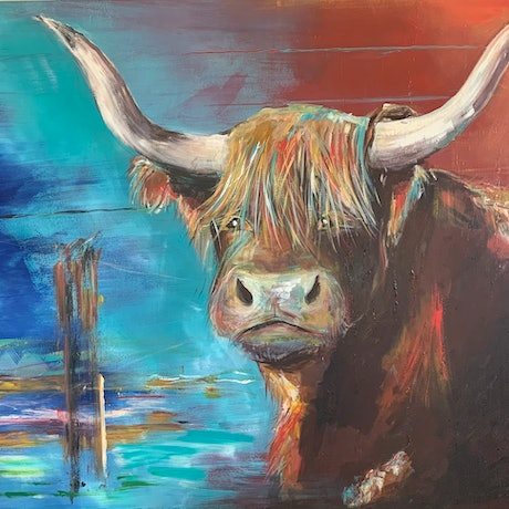 (CreativeWork) ' Jack' by Sandy Muston. Acrylic. Shop online at Bluethumb.