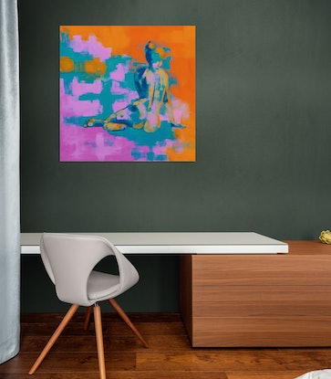 (CreativeWork) Warm Glow by Steven Haas. Acrylic Paint. Shop online at Bluethumb.