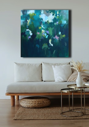 (CreativeWork) The rustling and the glistening by Susan Lhamo. Acrylic Paint. Shop online at Bluethumb.
