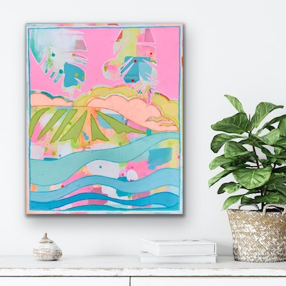 (CreativeWork) Take Me To The Quiet by Anna Bektash. Acrylic. Shop online at Bluethumb.