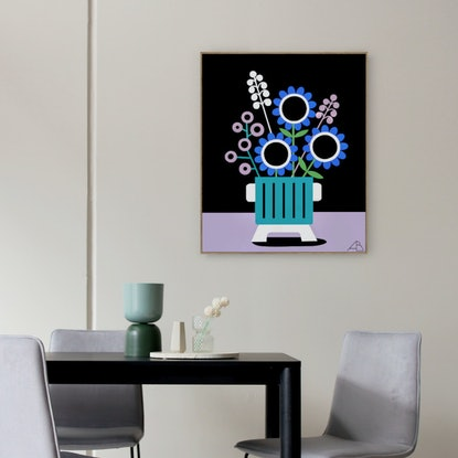 (CreativeWork) Still Life No 101 -  Seventies Spring Collection by Andria Beighton. Acrylic Paint. Shop online at Bluethumb.