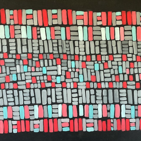 (CreativeWork) Almost Aztec by natalie green. Acrylic Paint. Shop online at Bluethumb.