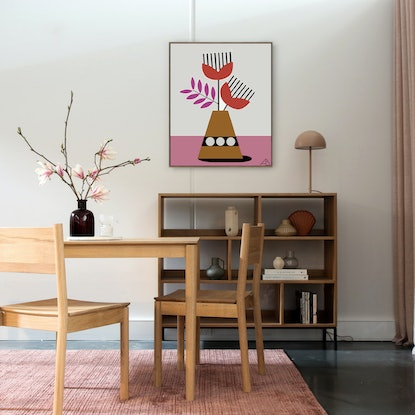 (CreativeWork) Still Life No 106 - Seventies Spring  by Andria Beighton. Acrylic Paint. Shop online at Bluethumb.