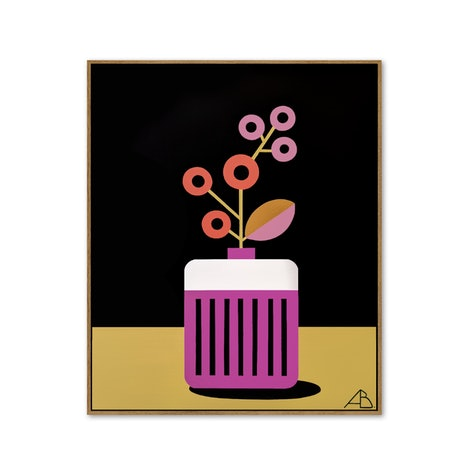 (CreativeWork) Still Life No 105 - Seventies Spring   by Andria Beighton. Acrylic Paint. Shop online at Bluethumb.