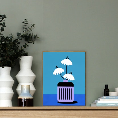 (CreativeWork) Still Life No 109 - Seventies Spring Collection  by Andria Beighton. Acrylic Paint. Shop online at Bluethumb.