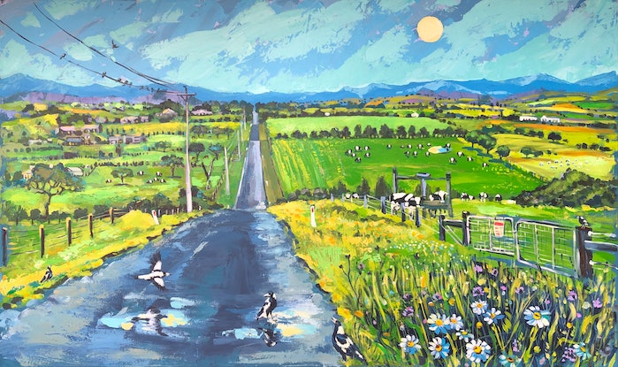 (CreativeWork) Road Home 2 by Valentyna Crane. Acrylic. Shop online at Bluethumb.