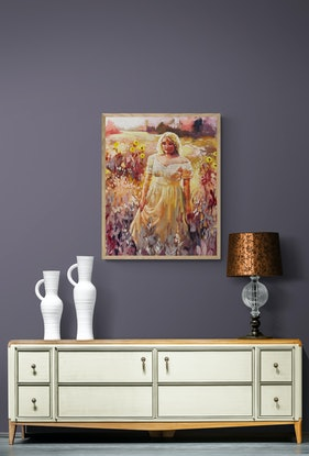 (CreativeWork) The Magic Hour by Clair Bremner. Oil. Shop online at Bluethumb.