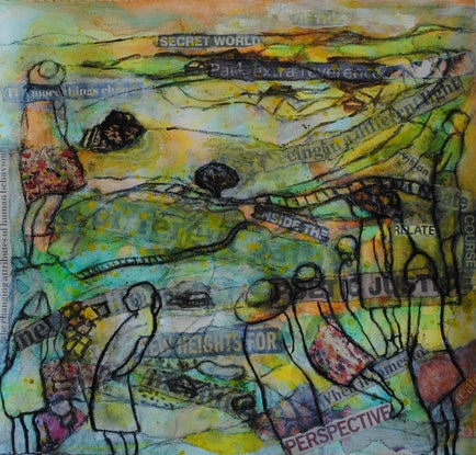 (CreativeWork) Different Light Different Path by Chris Rowe. Mixed Media. Shop online at Bluethumb.