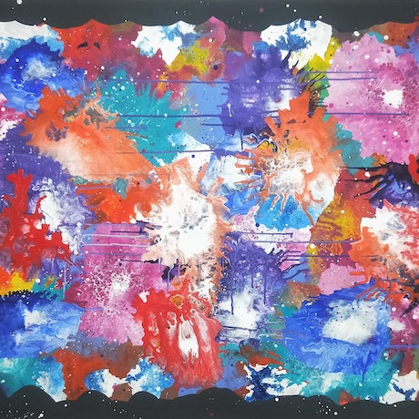 (CreativeWork) For the Love of Colour! by Kel Hinds. Acrylic Paint. Shop online at Bluethumb.