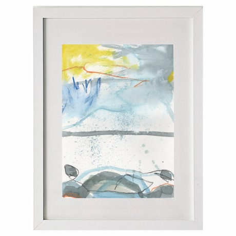 (CreativeWork) BoatHarbour 3 by Gina fynearts. Watercolour Paint. Shop online at Bluethumb.
