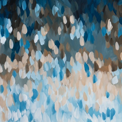 (CreativeWork) Winter Dreams by Amber Gittins. Acrylic Paint. Shop online at Bluethumb.