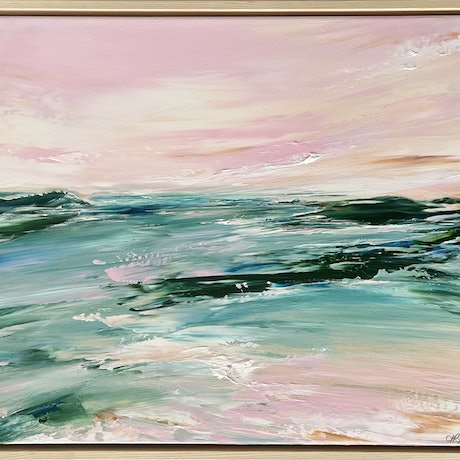 (CreativeWork) Grace in the Moment by Sharon Rynehart. Acrylic Paint. Shop online at Bluethumb.