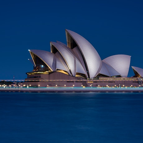 (CreativeWork) Sydney Opera House - Blue Hour Ed. 1 of 40 by Neil Hendry. Photograph. Shop online at Bluethumb.