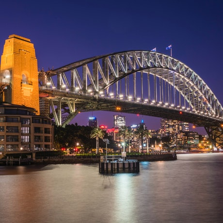 (CreativeWork) Sydney Harbour Bridge at Night Ed. 1 of 40 by Neil Hendry. Photograph. Shop online at Bluethumb.