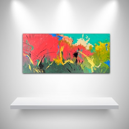 (CreativeWork) Attachment by Tom Roso. Acrylic Paint. Shop online at Bluethumb.