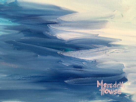 (CreativeWork) River Running Blue  - by Meredith Howse. Oil Paint. Shop online at Bluethumb.