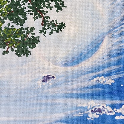 (CreativeWork) Always look up by Ellie Biggs. Acrylic Paint. Shop online at Bluethumb.