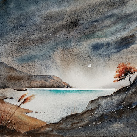 (CreativeWork) The Storm Has Passed by Anastasia Mily. Watercolour Paint. Shop online at Bluethumb.