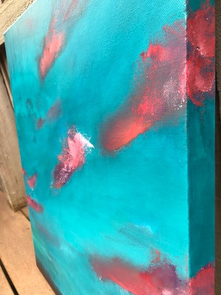 (CreativeWork) TRANQUIL   - BLUE ABSTRACT  by Belinda Stone. Acrylic Paint. Shop online at Bluethumb.