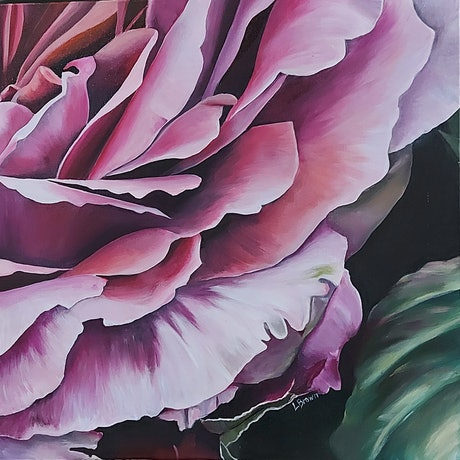 (CreativeWork) ROMANCE OF THE NIGHT by Lynette Brown. Acrylic Paint. Shop online at Bluethumb.