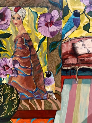 (CreativeWork) The Desert Rose by Kobie Bosch. Oil Paint. Shop online at Bluethumb.
