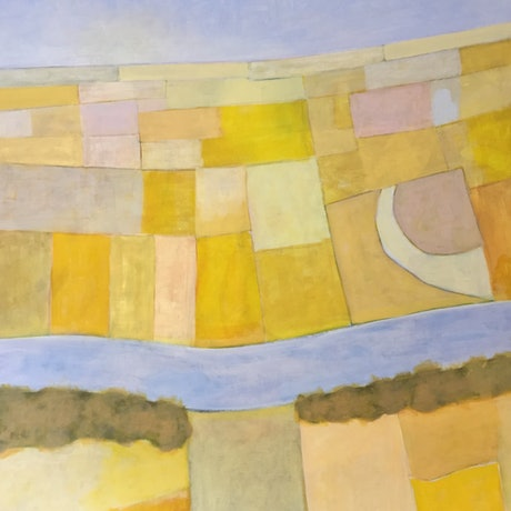 (CreativeWork) canola by dave Hearne. Acrylic Paint. Shop online at Bluethumb.