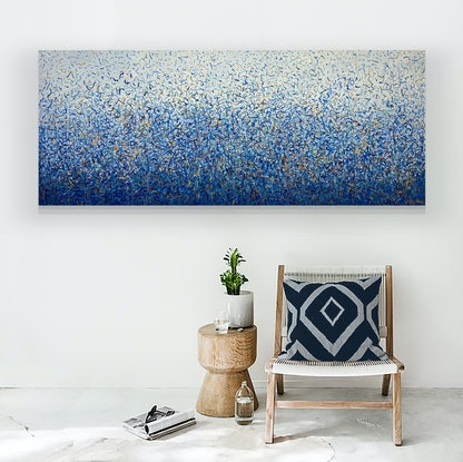 (CreativeWork) The Culburra Dance 152 x 61cm acrylic on canvas by George Hall. Acrylic Paint. Shop online at Bluethumb.