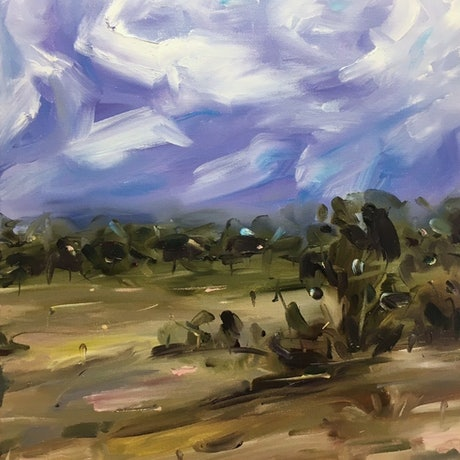 (CreativeWork) Paddock by Jo Meredith. Oil Paint. Shop online at Bluethumb.
