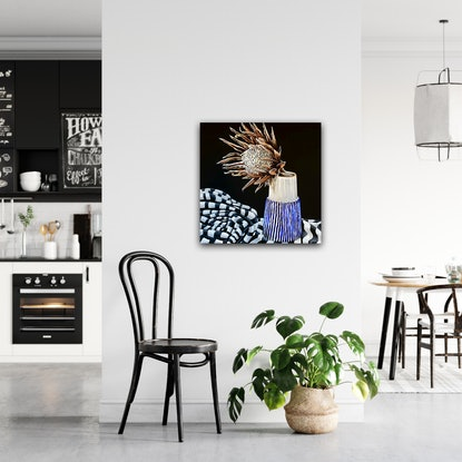 (CreativeWork) Busy Being Still by Belinda Jeanes. Acrylic Paint. Shop online at Bluethumb.