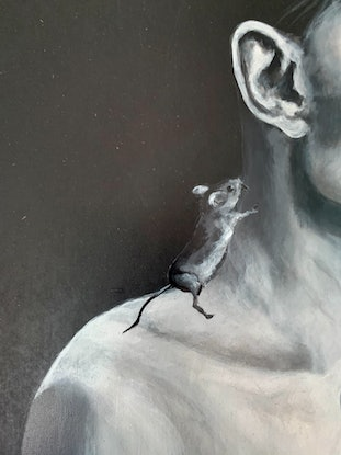 (CreativeWork) Mouse by Ewen Welsh. Acrylic. Shop online at Bluethumb.