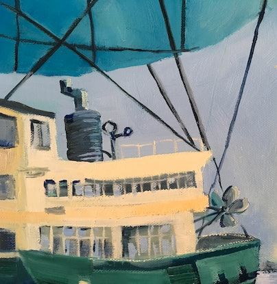 (CreativeWork) Sydney Harbour - Seaworthy  - by Meredith Howse. Oil Paint. Shop online at Bluethumb.