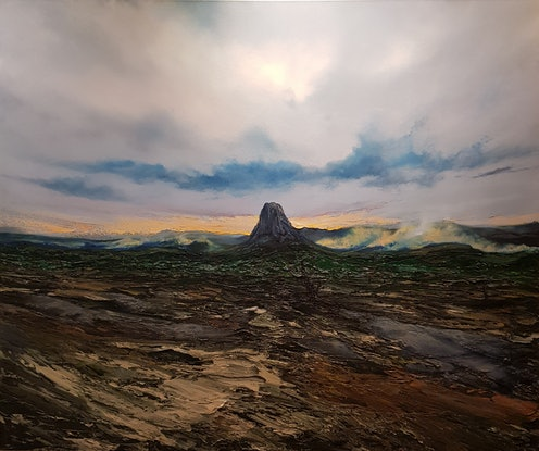(CreativeWork) Bar Bluff by Phillip McKay. Oil Paint. Shop online at Bluethumb.