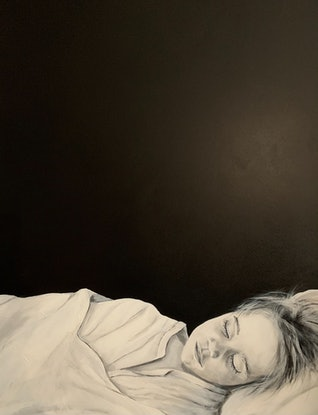 (CreativeWork) Kid by Ewen Welsh. Acrylic Paint. Shop online at Bluethumb.