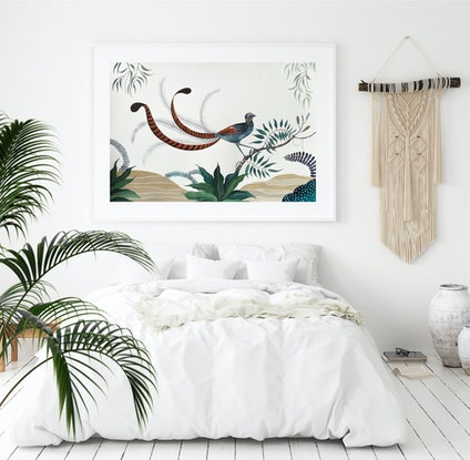 (CreativeWork) Lyrebird Track 2021 by Sally Browne. Watercolour Paint. Shop online at Bluethumb.