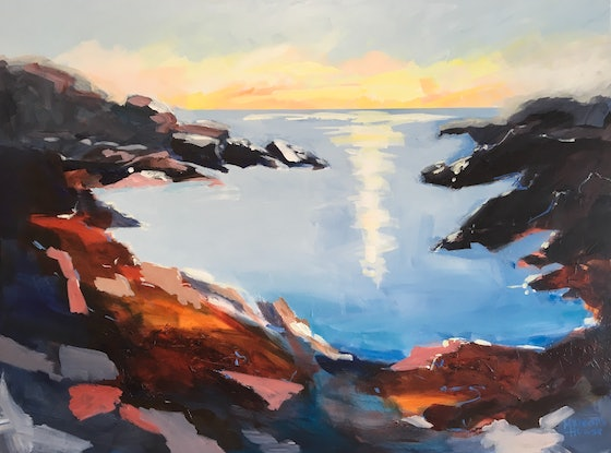 (CreativeWork) By the Sea by Meredith Howse. Acrylic Paint. Shop online at Bluethumb.