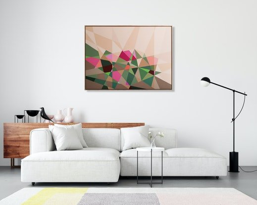 (CreativeWork) Impressions of a Garden 1 by Min Ray. Acrylic Paint. Shop online at Bluethumb.