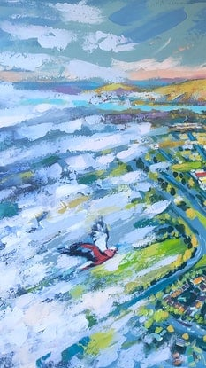 (CreativeWork) Through the clouds  by Valentyna Crane. Acrylic. Shop online at Bluethumb.