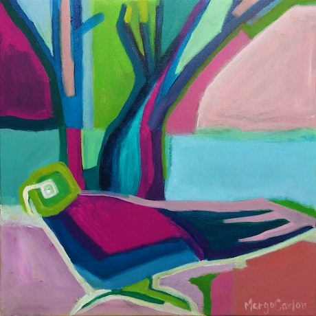 (CreativeWork) Parrot with Blue Water  by Margo Carlon. Acrylic Paint. Shop online at Bluethumb.