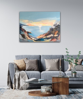 (CreativeWork) Archipelago  by Meredith Howse. Acrylic Paint. Shop online at Bluethumb.