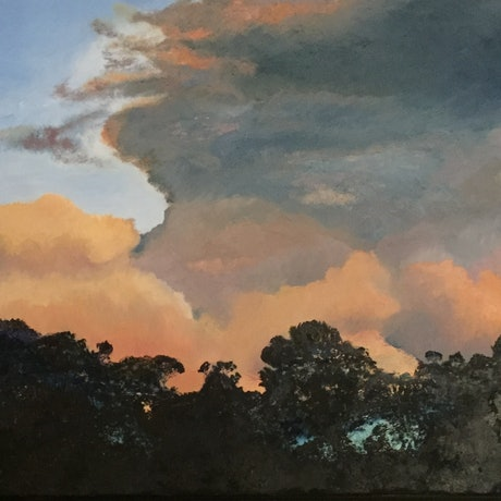(CreativeWork) Remains of the day by Christine Richman. Oil Paint. Shop online at Bluethumb.