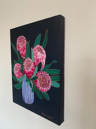 (CreativeWork) Serenity by Andrea Leaver. Acrylic Paint. Shop online at Bluethumb.