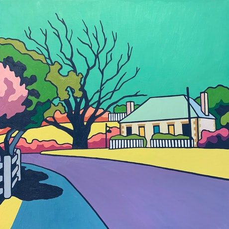 (CreativeWork) Looking Back From The Old Bridge by Aylee Kim. Oil Paint. Shop online at Bluethumb.